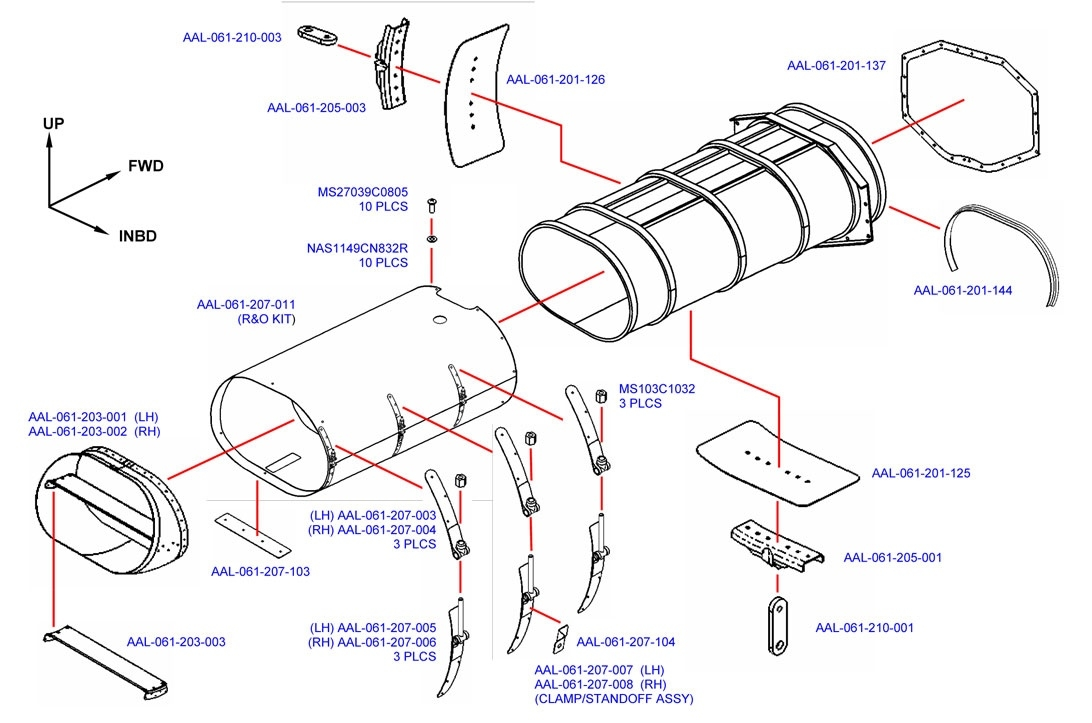 Exhaust Ejector Replacement Parts - Alpine Aerotech